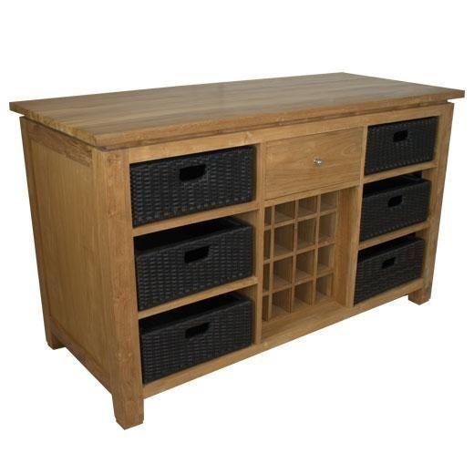 meuble cuisine teck harlow mobilier. Black Bedroom Furniture Sets. Home Design Ideas