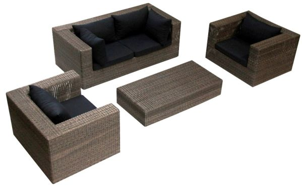 salon de jardin r sine tress e azzuro meubles de jardin. Black Bedroom Furniture Sets. Home Design Ideas