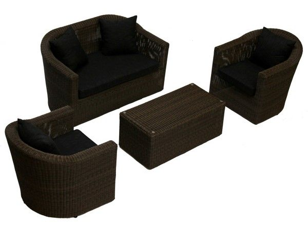 salon de jardin r sine tress e san diego meubles de jardin. Black Bedroom Furniture Sets. Home Design Ideas