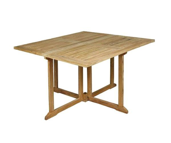 Table de jardin teck pliante bangor for Table jardin en teck