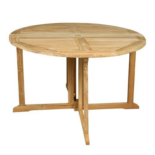 Table de jardin teck pliante milford for Table de jardin pliante