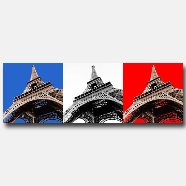 tableau design rectangle tour eiffel 40x120. Black Bedroom Furniture Sets. Home Design Ideas