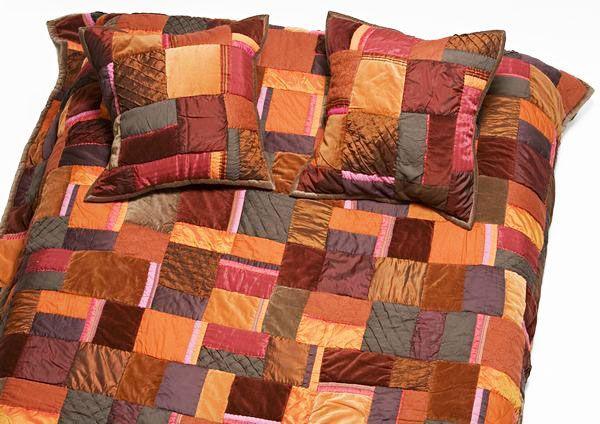 parure de lit patchwork rusty 240x260. Black Bedroom Furniture Sets. Home Design Ideas