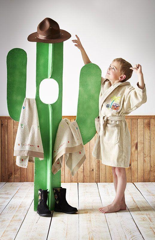 peignoir enfant baroudeur 2 3 ans linge de maison. Black Bedroom Furniture Sets. Home Design Ideas