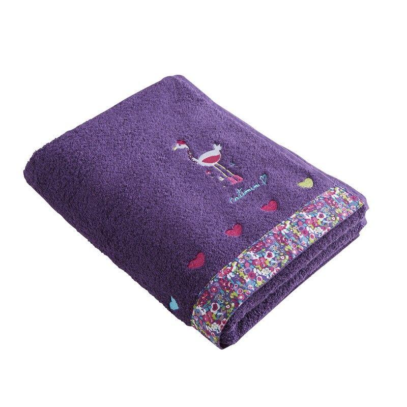 serviette de toilette melle rose 50x100 linge de maison. Black Bedroom Furniture Sets. Home Design Ideas