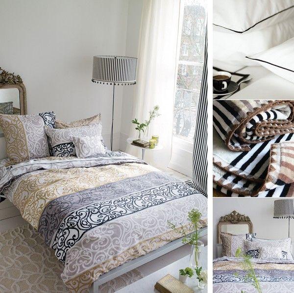 Drap de lit fretz noir satin de coton 240x300 linge de maison - Linge de lit en satin de coton ...