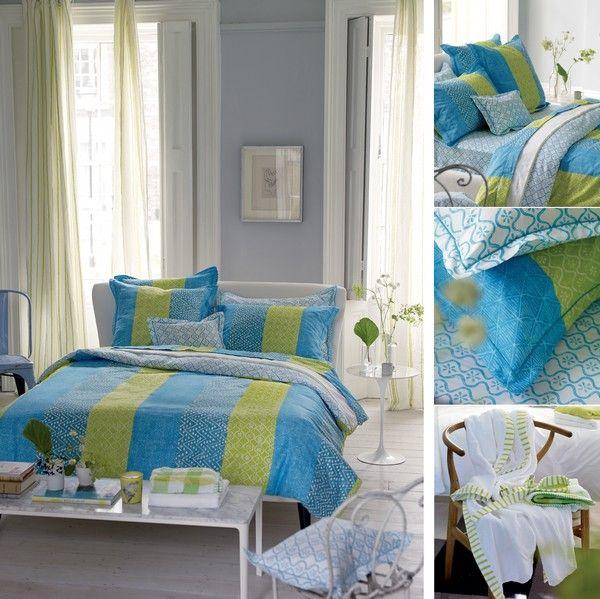 drap housse satin de coton laguna 140x190 linge de. Black Bedroom Furniture Sets. Home Design Ideas