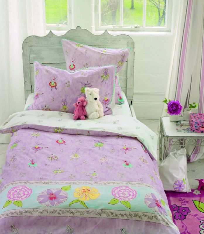 housse de couette ballerina bunny 140x200 linge de maison. Black Bedroom Furniture Sets. Home Design Ideas