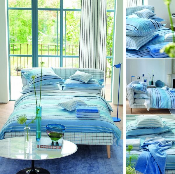 housse de couette purbeck bleu 140x200 designers guild. Black Bedroom Furniture Sets. Home Design Ideas