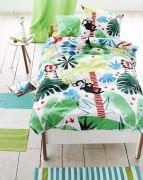 Housse de couette coton Jungle Playtime 140x200 - Designers Guild