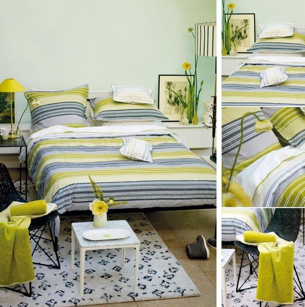 housse de couette grise et verte. Black Bedroom Furniture Sets. Home Design Ideas
