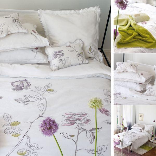 Housse De Couette Percale Rosa Blanc 140x200 Designers Guild
