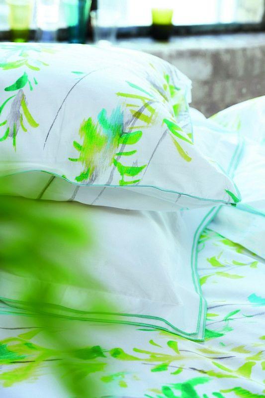 taie d 39 oreiller willow acacia satin de coton 50x75 linge de maison. Black Bedroom Furniture Sets. Home Design Ideas