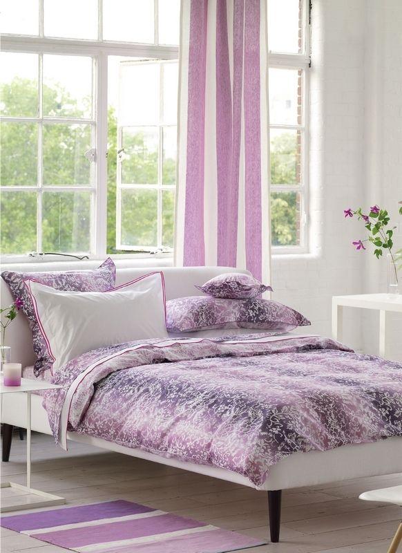 taie d 39 oreiller yuzen damson satin de coton 50x75 linge de maison. Black Bedroom Furniture Sets. Home Design Ideas