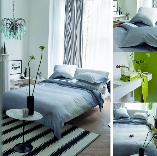 taie d 39 oreiller satin de coton saraille gris 50x75 designers guild. Black Bedroom Furniture Sets. Home Design Ideas