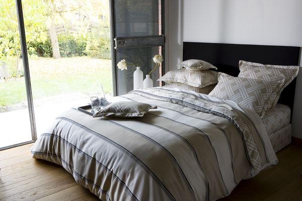 Drap de lit percale metropolitan 180x290 linge de maison - Difference entre drap plat et housse de couette ...