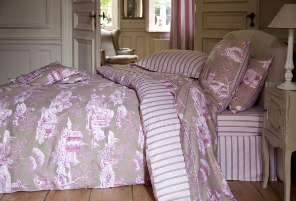 Drap de lit satin de coton manoir 180x290 linge de maison - Linge de lit en satin de coton ...