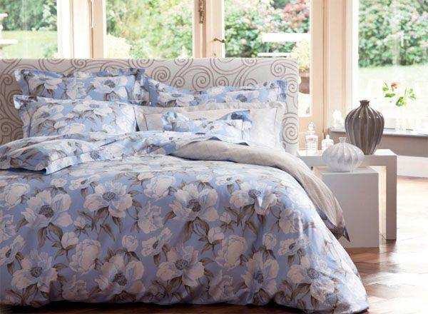 drap housse percale diva bleu 90x190 linge de maison. Black Bedroom Furniture Sets. Home Design Ideas