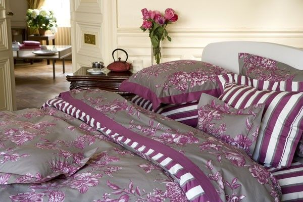 housse de couette m lisande prune 140x200. Black Bedroom Furniture Sets. Home Design Ideas