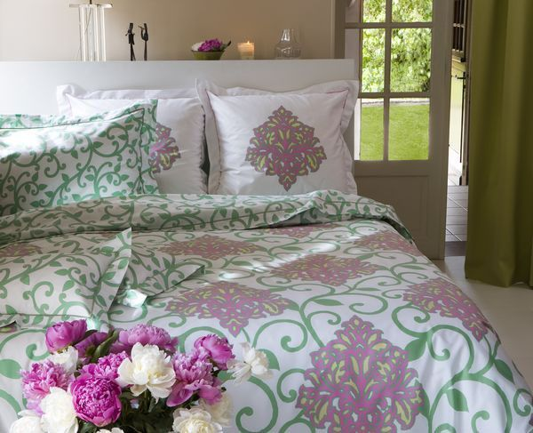 housse de couette taj mahal vert 140x200 linge de maison. Black Bedroom Furniture Sets. Home Design Ideas