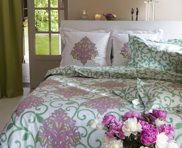 housse de couette taj mahal vert 240x220. Black Bedroom Furniture Sets. Home Design Ideas
