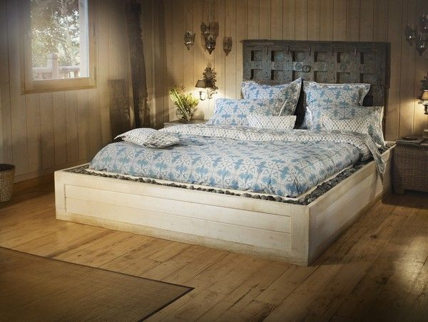 Drap de lit satin de coton palmyre 270x300 linge de maison - Linge de lit en satin de coton ...