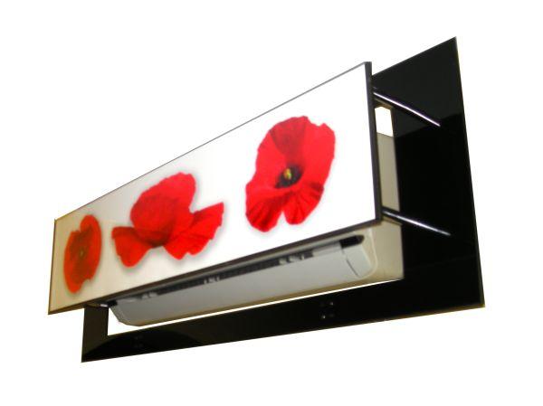 Assez Cache climatiseur Fleur cadre IW04