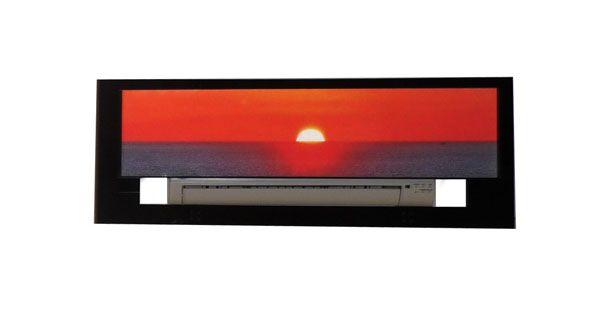 cache climatiseur soleil cadre d coration. Black Bedroom Furniture Sets. Home Design Ideas