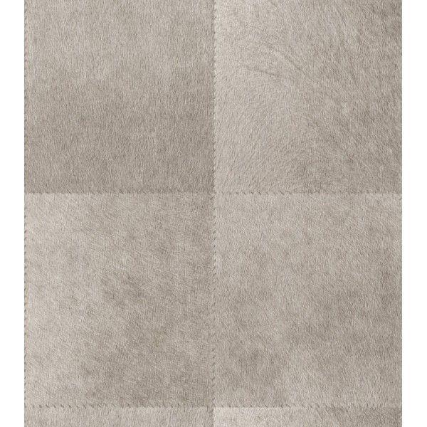 Papier peint intiss peaux en damiers beige taupe idasy for Decoration papier peint