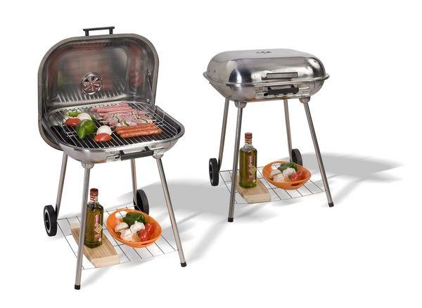 barbecue inox avec couvercle meubles de jardin. Black Bedroom Furniture Sets. Home Design Ideas