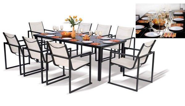 salon de jardin aluminium yucatan. Black Bedroom Furniture Sets. Home Design Ideas