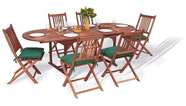 Table de salon de jardin en bois exotique - Mailleraye.fr jardin