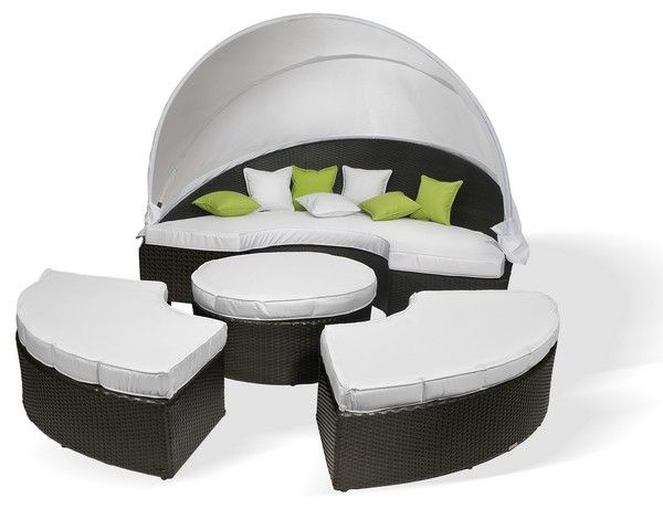 salon de jardin r sine tress e demi lune cocoon. Black Bedroom Furniture Sets. Home Design Ideas