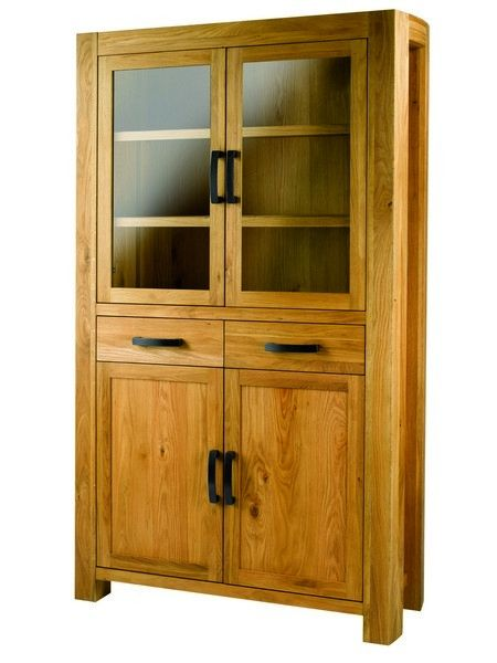 buffet vitrine ch ne acadie 4 portes 2 tiroirs. Black Bedroom Furniture Sets. Home Design Ideas