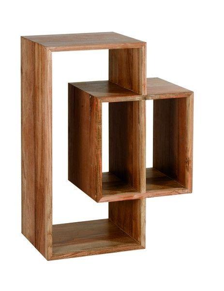 etag re rangement teck majestic 3 niches mobilier. Black Bedroom Furniture Sets. Home Design Ideas