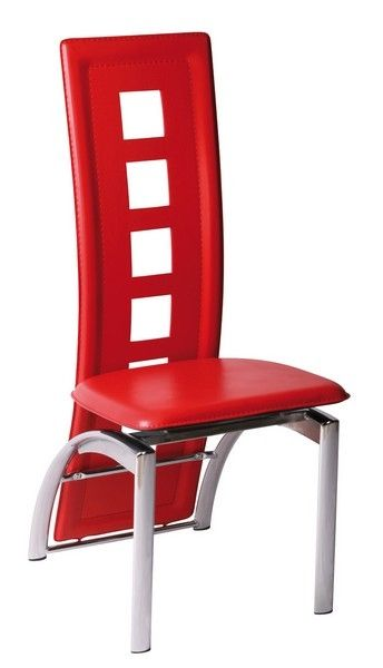 Chaise design delphine rouge - Chaise rouge design ...