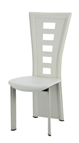 Chaise Design Aspect Cuir Julie Blanc