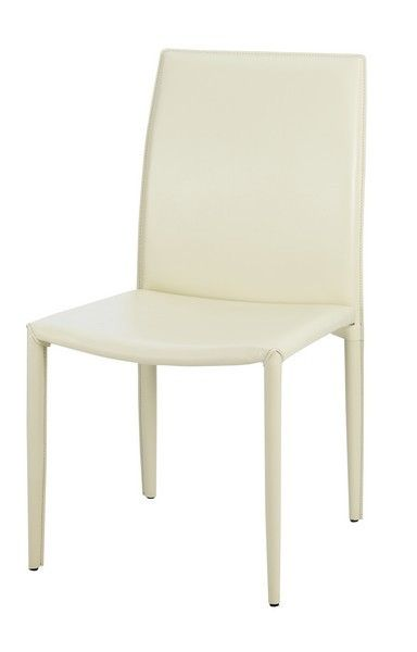 Chaise Design Cuir Recycle Patricia Creme