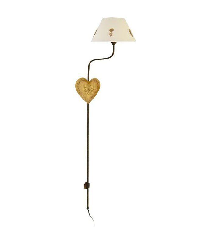 applique fer forg coeur bois luminaires. Black Bedroom Furniture Sets. Home Design Ideas