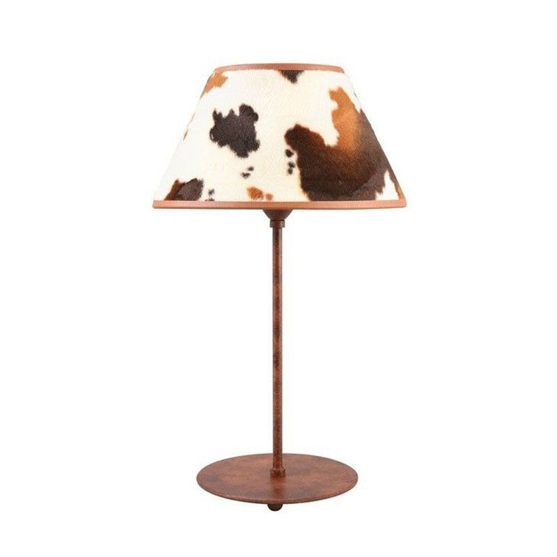 lampe poser m tal abat jour vache ryckaert. Black Bedroom Furniture Sets. Home Design Ideas