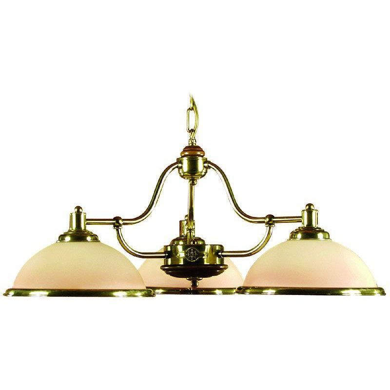 lustre de billard laiton vernis 3 clairages verrerie. Black Bedroom Furniture Sets. Home Design Ideas