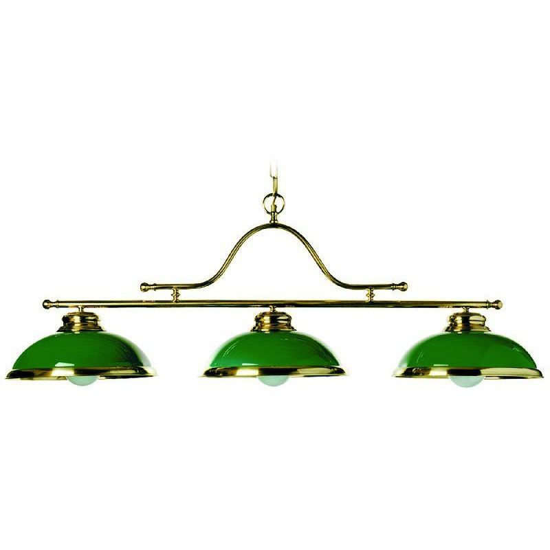 lustre de billard laiton vernis 3 clairages verrerie verte luminaires. Black Bedroom Furniture Sets. Home Design Ideas