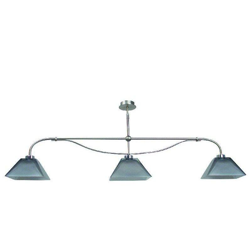 lustre t l scopique nickel satin 3 clairages verre gris nacr luminaires. Black Bedroom Furniture Sets. Home Design Ideas