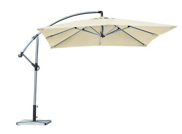 parasol d port aluminium carr cru. Black Bedroom Furniture Sets. Home Design Ideas