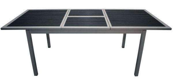 Table de jardin biscarrosse noire 150 cm meubles de jardin - Table jardin largeur cm paris ...