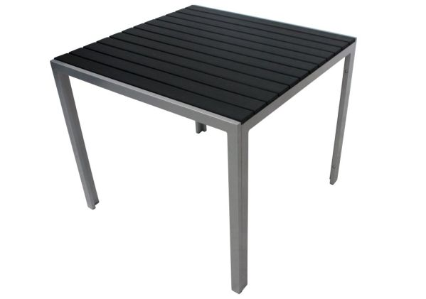 table de jardin biscarrosse noire 90 cm. Black Bedroom Furniture Sets. Home Design Ideas