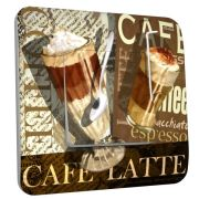 Interrupteur déco Café latte simple - DKO Interrupteur