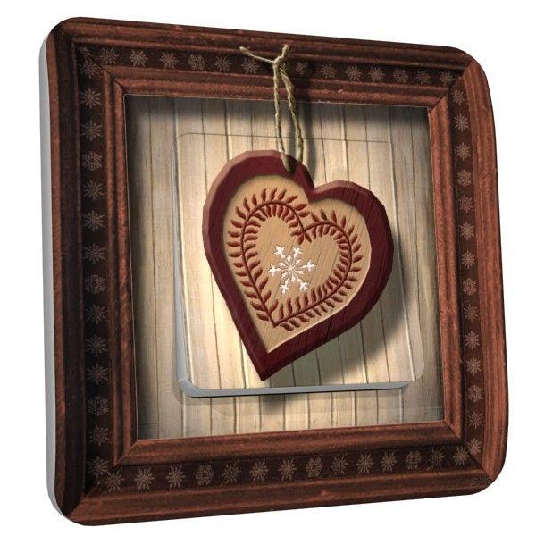 Interrupteur d co coeur rouge poussoir d coration - Decoration coeur rouge ...