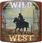 Interrupteur déco Country / Cow-Boy wild west double - DKO Interrupteur