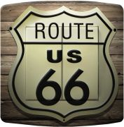 Interrupteur déco Country / Route 66 double poussoir - DKO Interrupteur